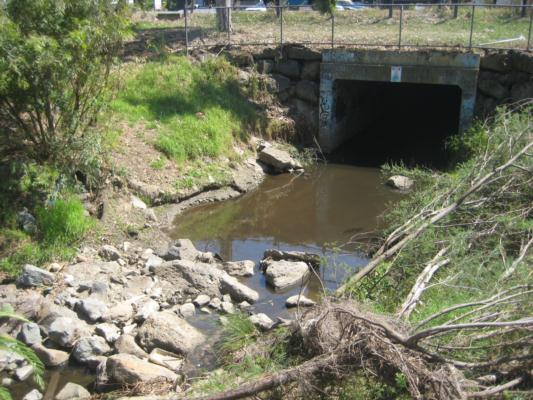 Photo of the main drain taken today