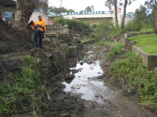 the waterway being cleared, and the site being smartened up