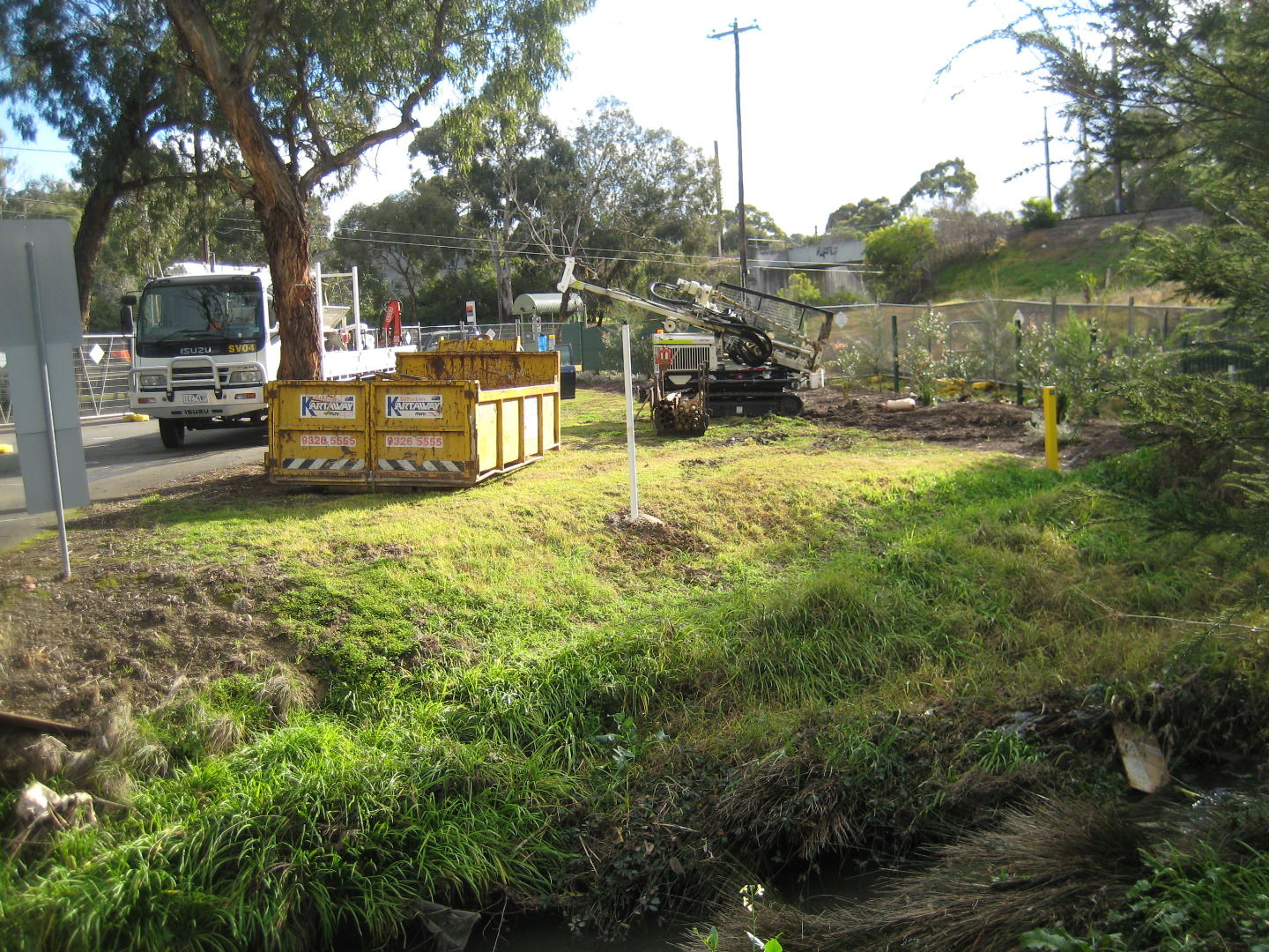 Landscaping being done near YDI 838