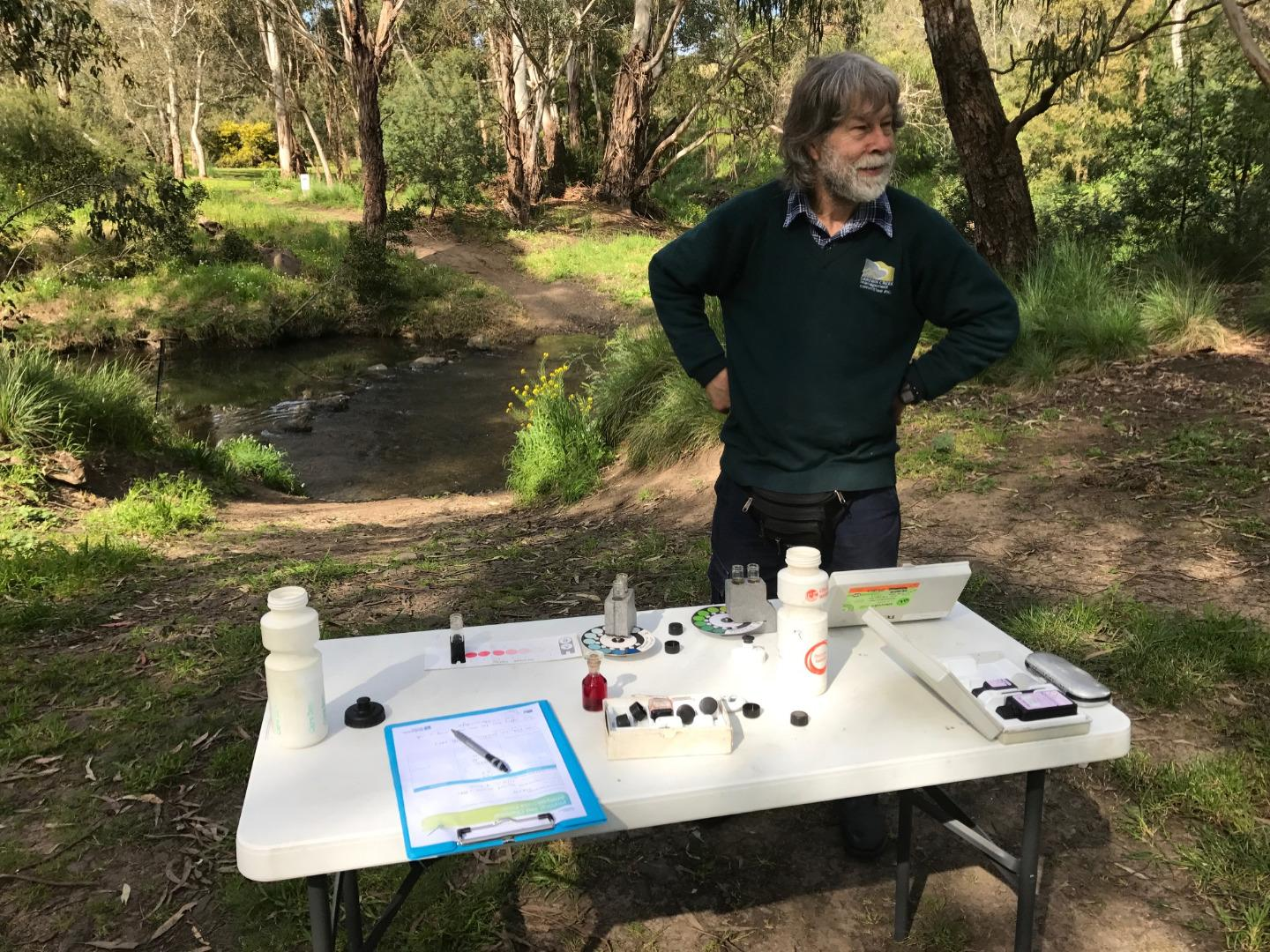Possibly longtime WW monitor and Darebin Parklands volunteer dynamo Michael Mann's last time monitoring here, as he is moving away.