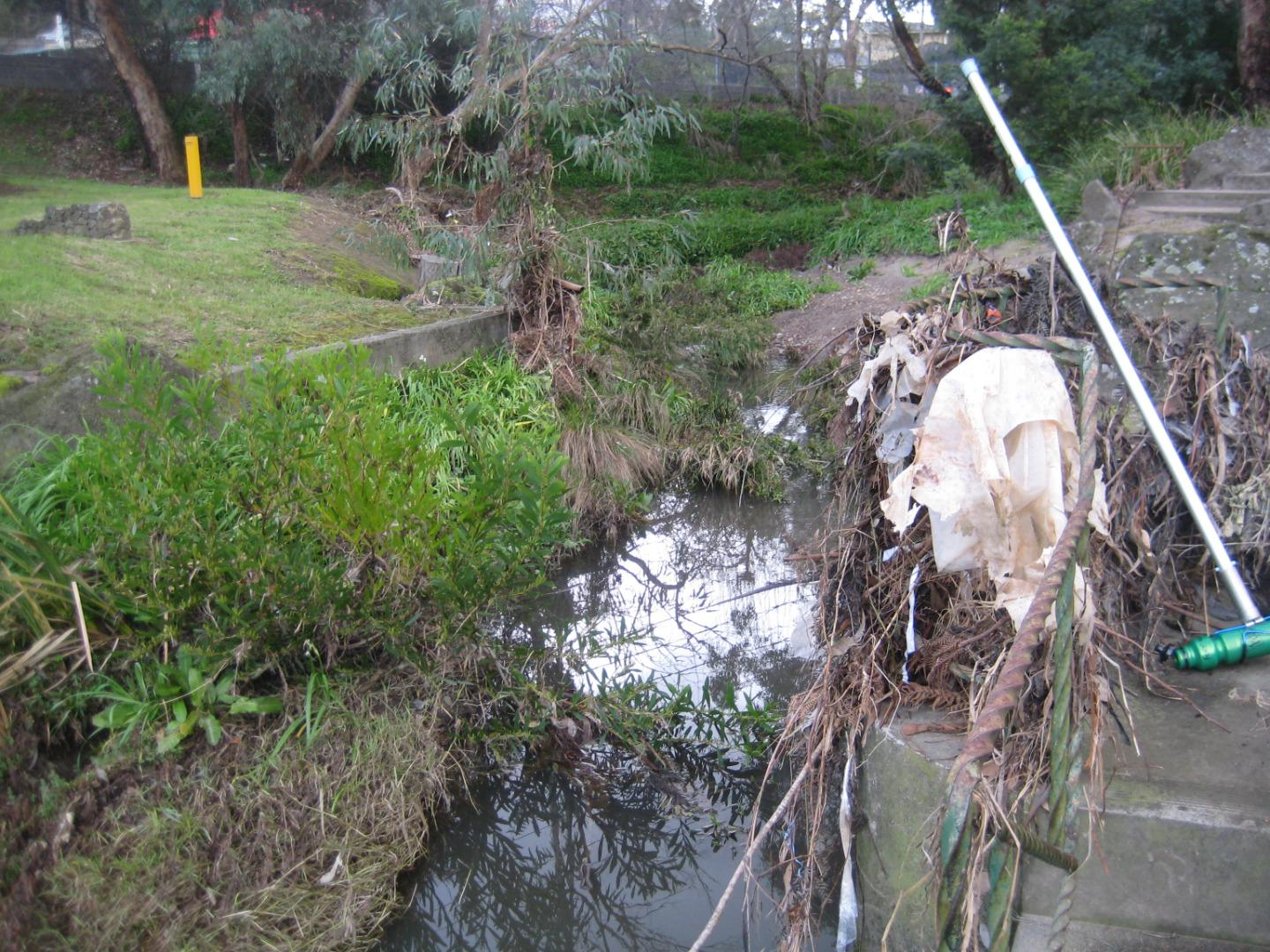 evidence of recent high water flow