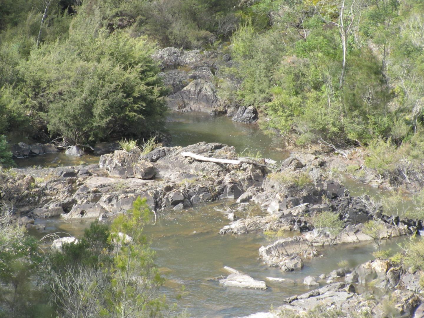 River image approximately 3 kilometres upstream of the pump station