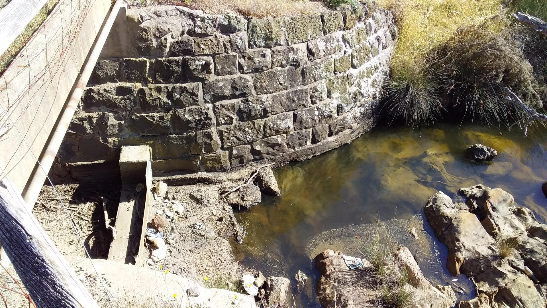 Downstream side of bridge Water Sample Collection Area Jan2019