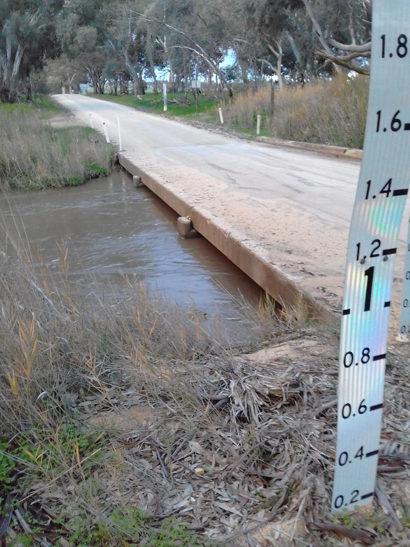 Showing level below Low Water Bridge