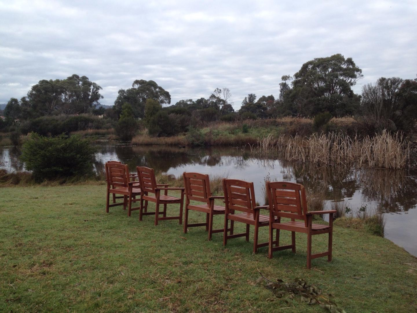 Lake full and mystery chairs appeared